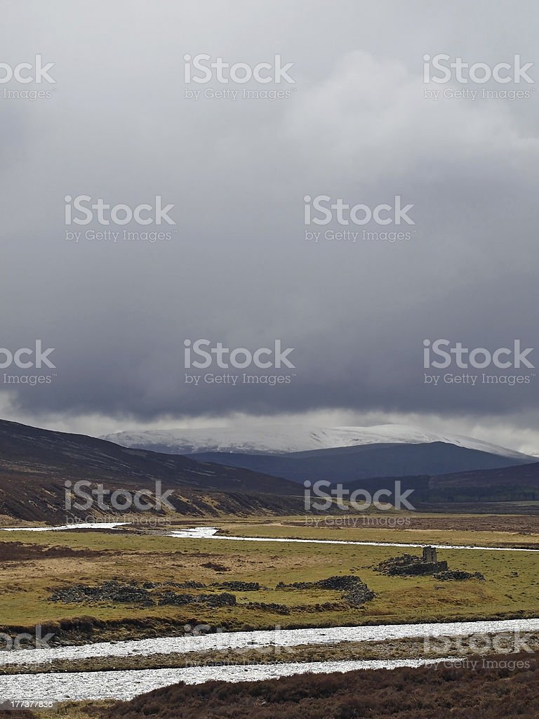 Dee river , white bridge area, Cairngorms , Scotland royalty-free stock photo