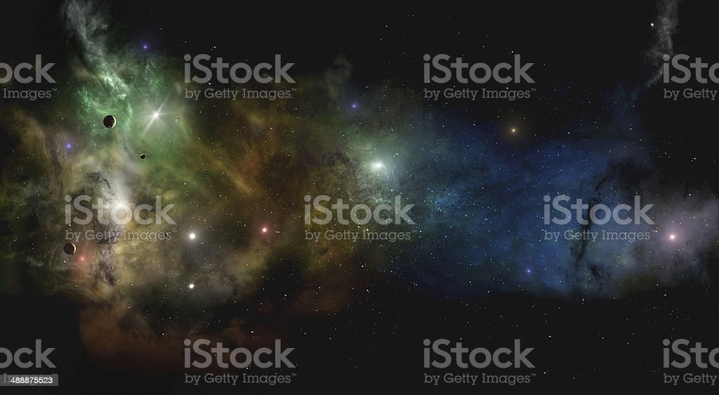 Dee Space Starfield royalty-free stock photo