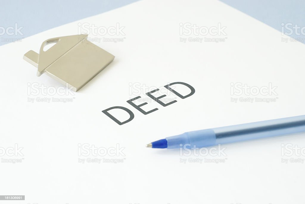 deed royalty-free stock photo