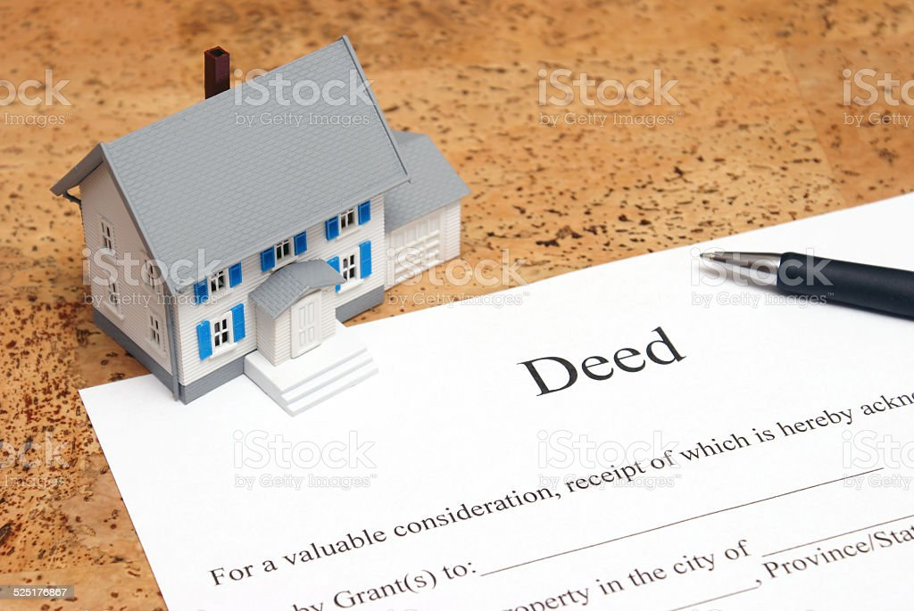 Deed to a House stock photo