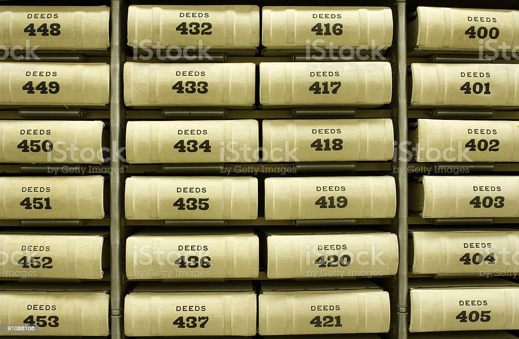 Deeds stock photo