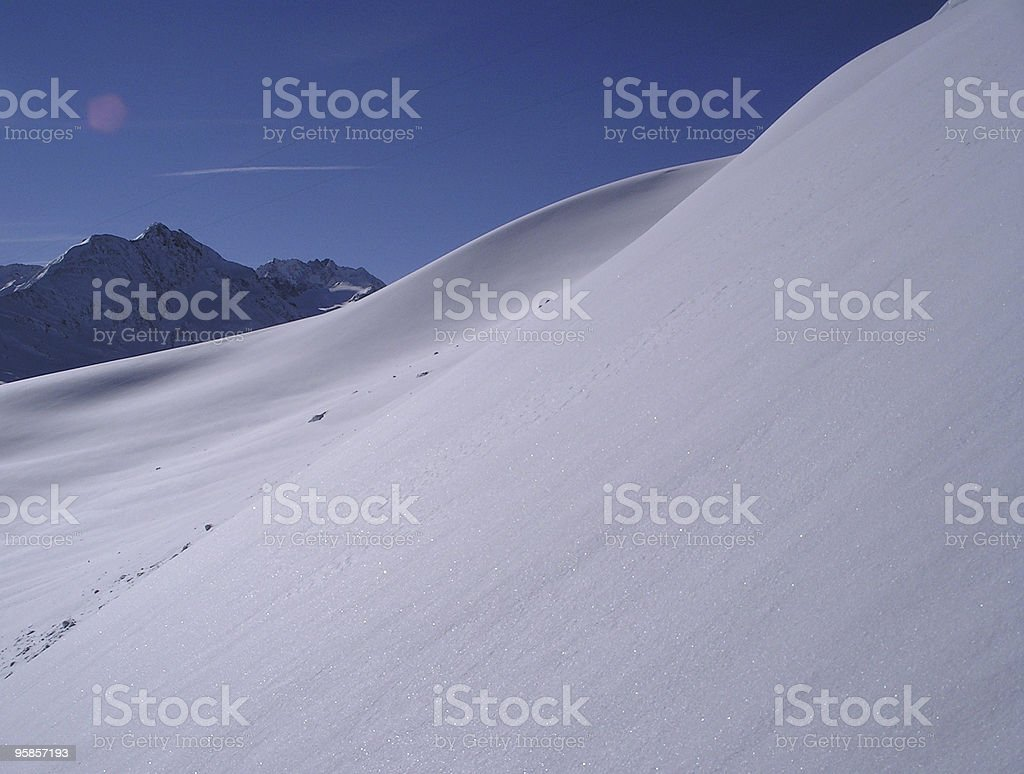 Deeeep powder snow, what a great feeling royalty-free stock photo