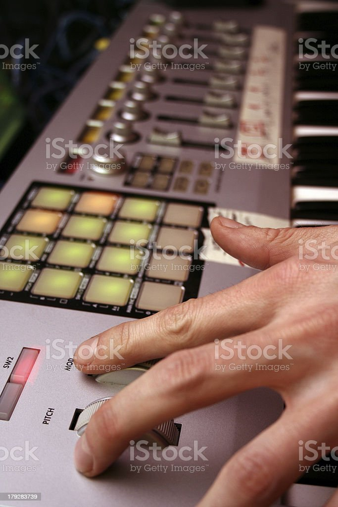 Deejay & keyboard-midi controler 1 royalty-free stock photo
