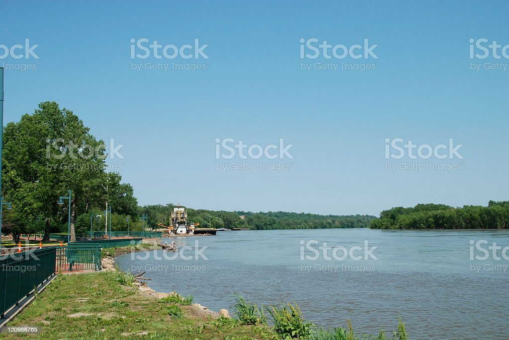 Deep and Wide Missouri River stock photo