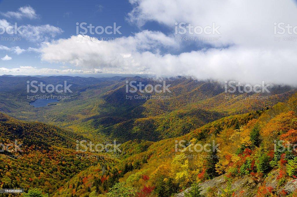 Deep Autumn View on the Blue Ridge Parkway, NC, USA royalty-free stock photo