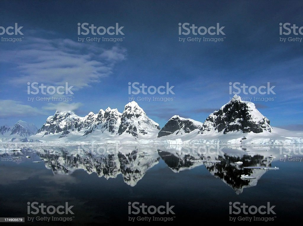 Deep Blue Antarctica stock photo