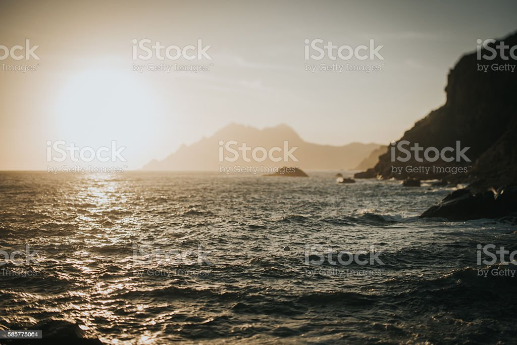 Deep blue coast stock photo
