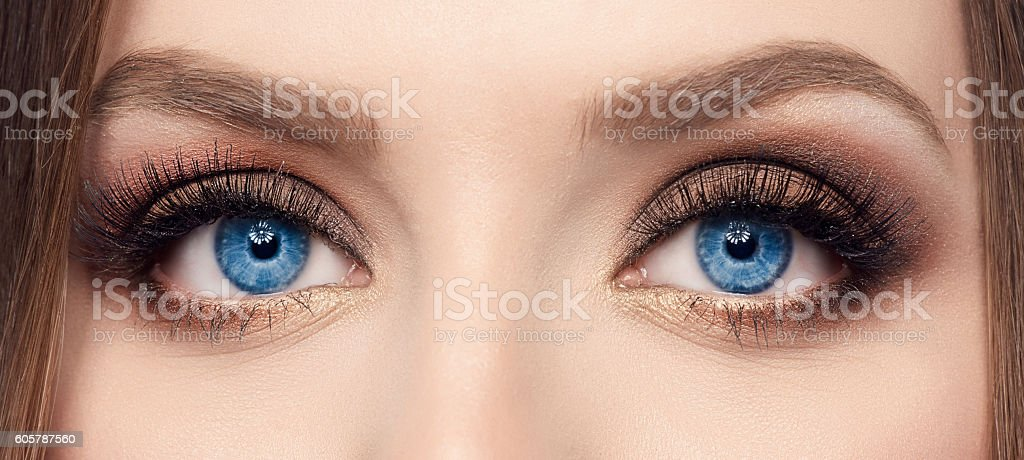 deep blue eyes stock photo