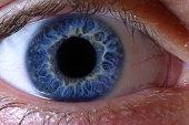 Deep blue human eye