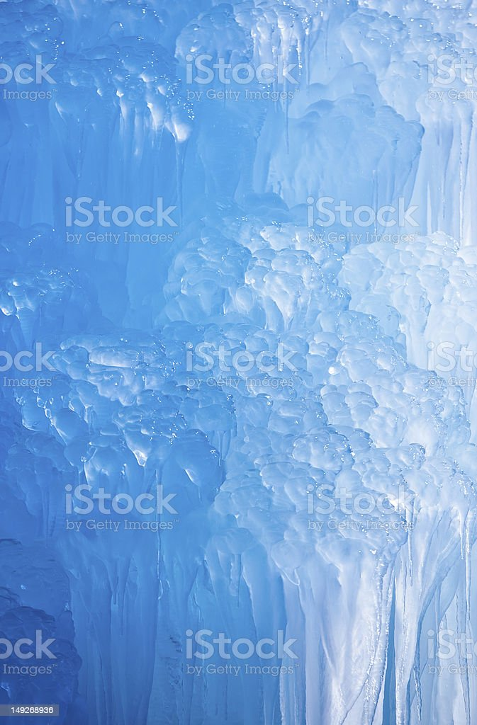 Deep Blue Icicles royalty-free stock photo