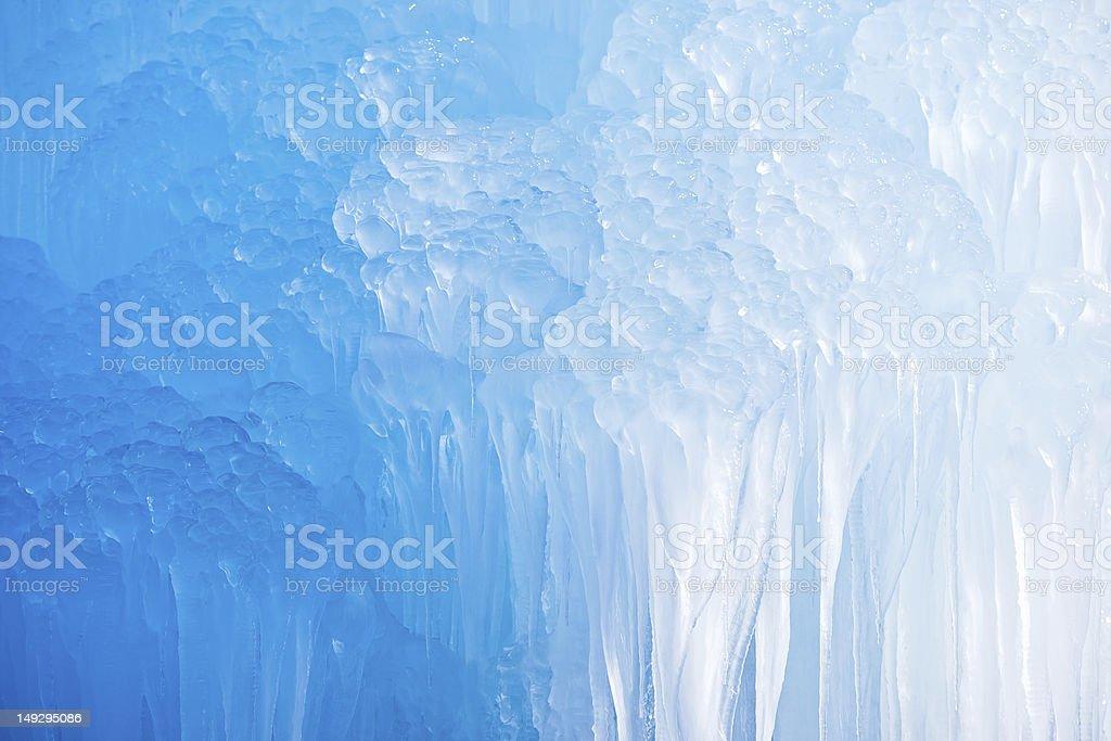 Deep Blue Icicles stock photo