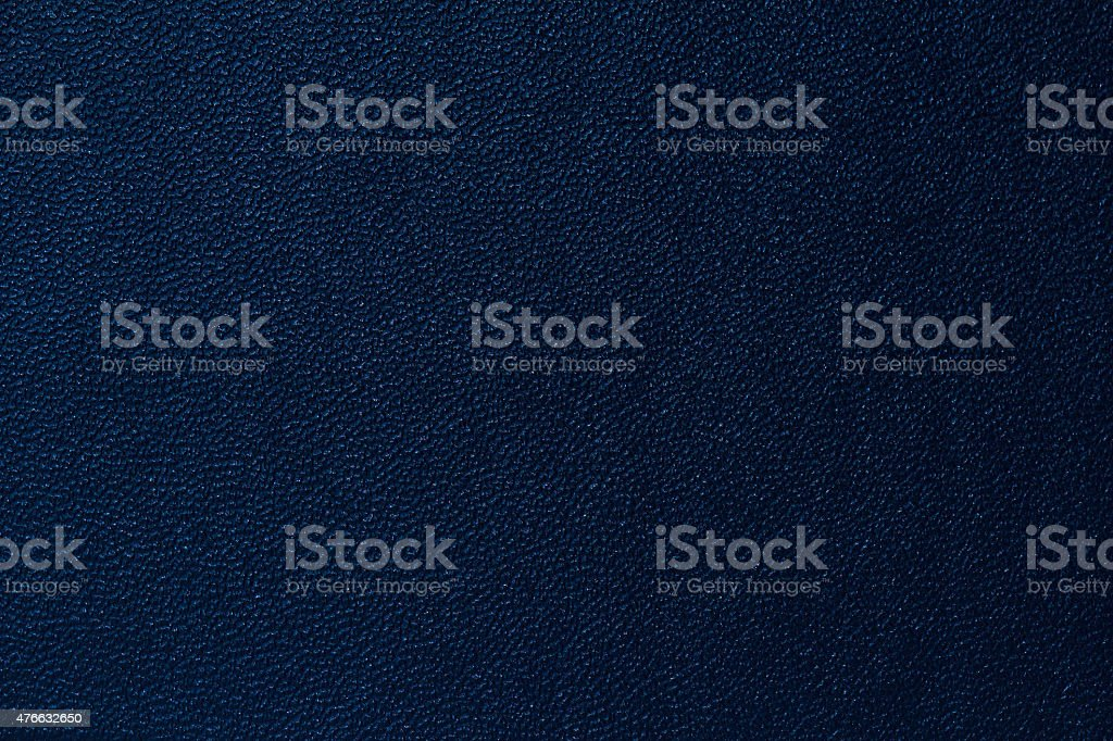 Deep blue leather texture background stock photo