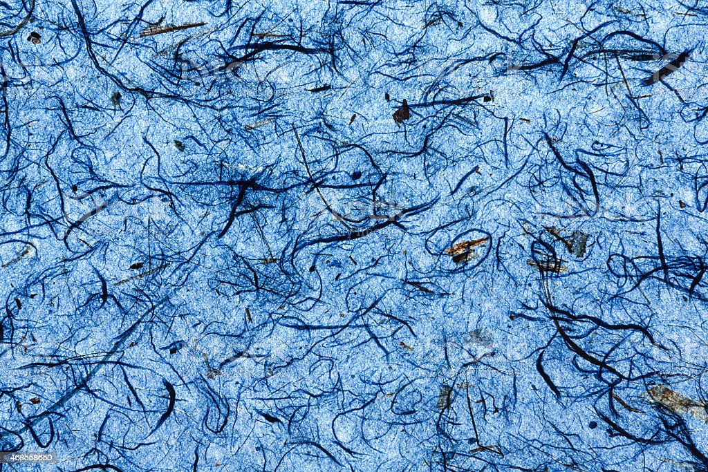 Deep blue natural paper texture background royalty-free stock photo
