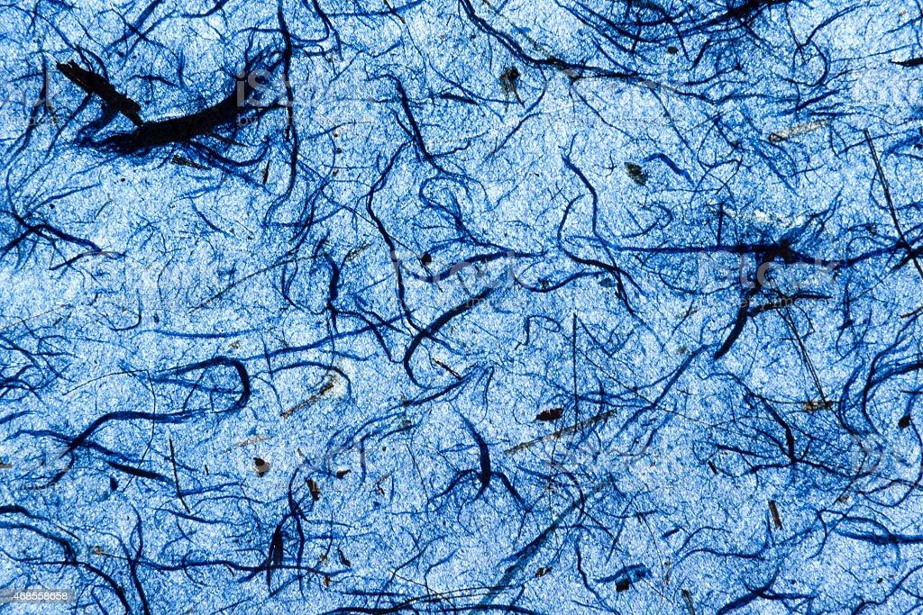 Deep blue natural paper texture closeup royalty-free stock photo