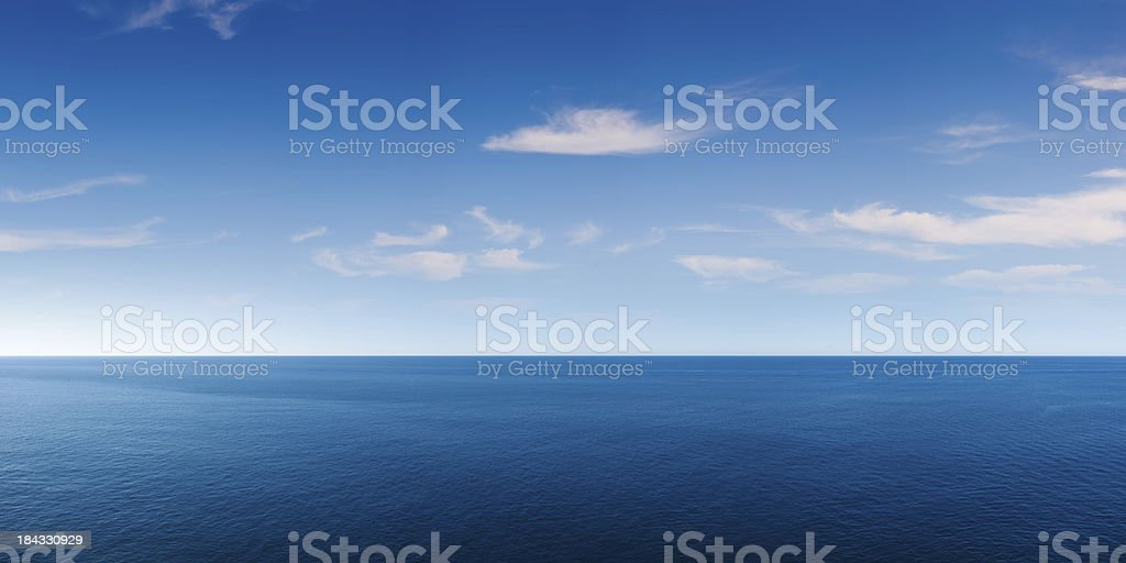 Deep Blue Ocean Panorama stock photo