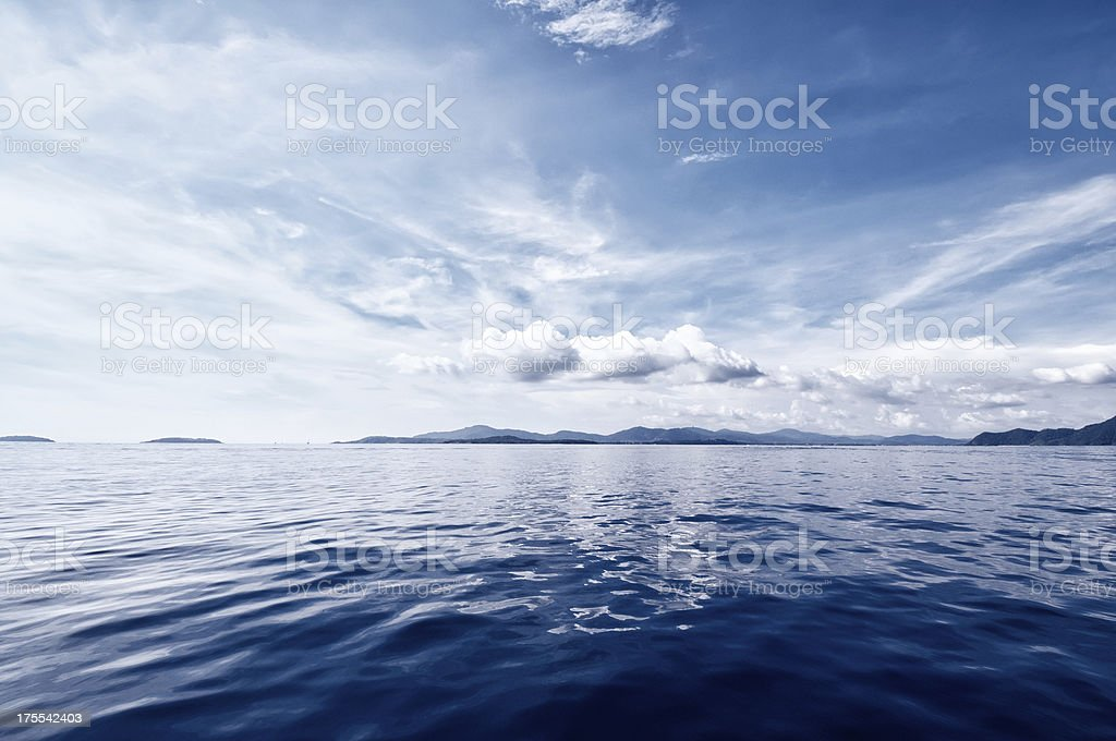 Deep Blue Ocean stock photo