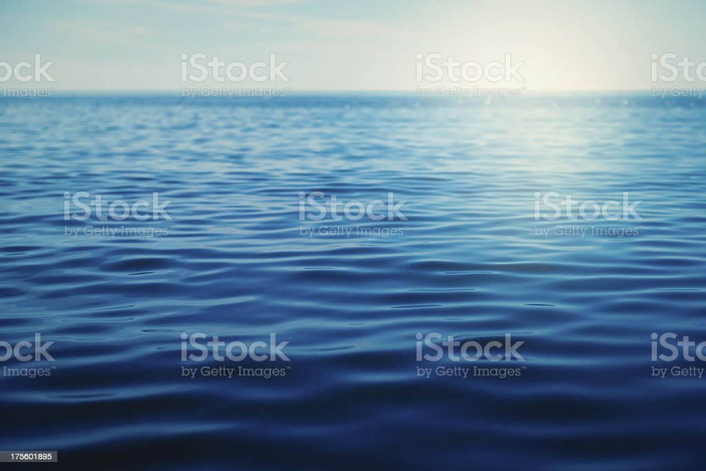 Deep Blue Ocean royalty-free stock photo
