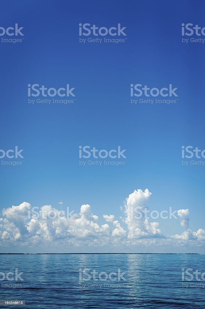Deep Blue Ocean royalty-free stock photo