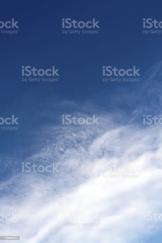 Deep blue sky and clouds royalty-free stock photo