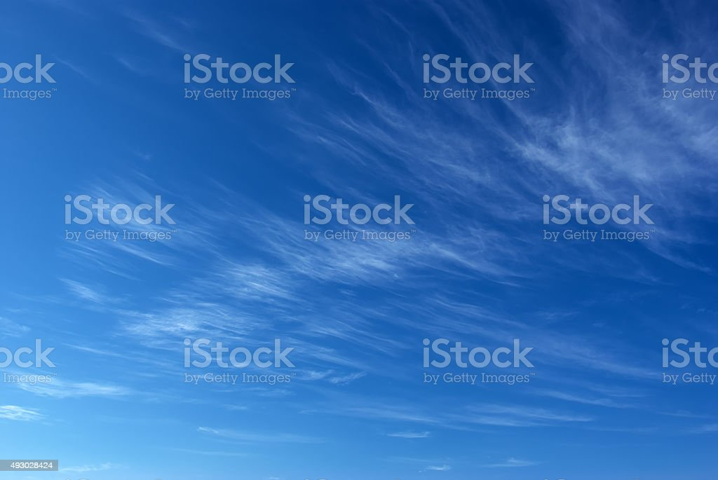 Deep blue sky stock photo