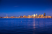 Deep Blue Sunset in Seattle