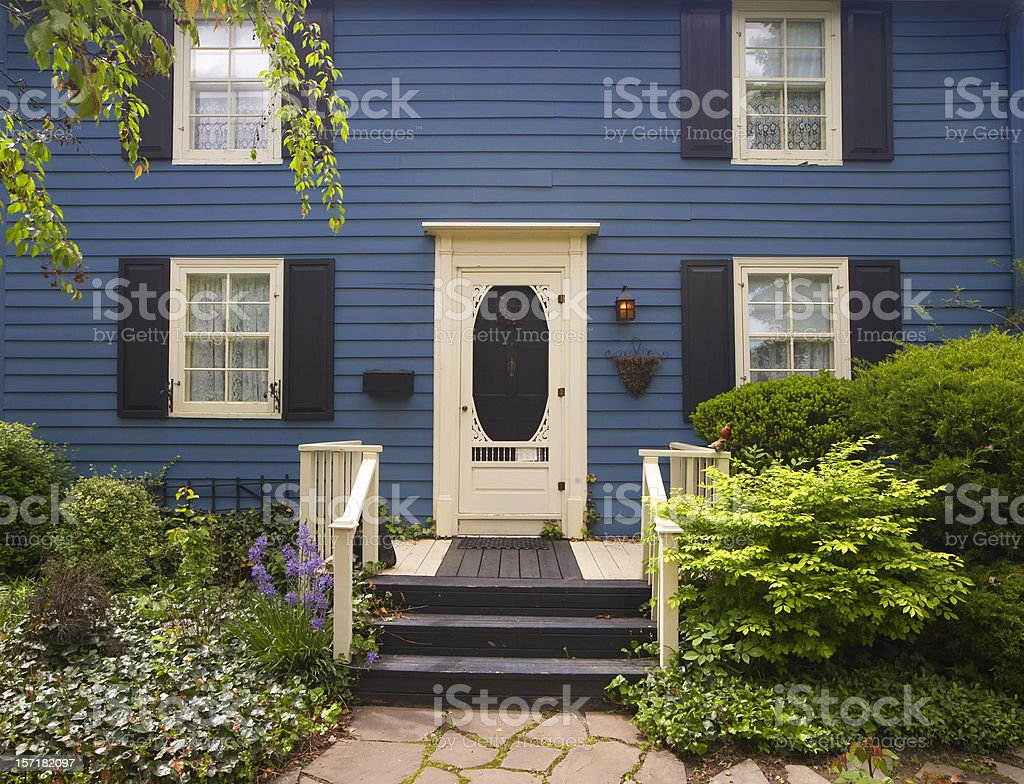 Deep Blue, two floors stock photo