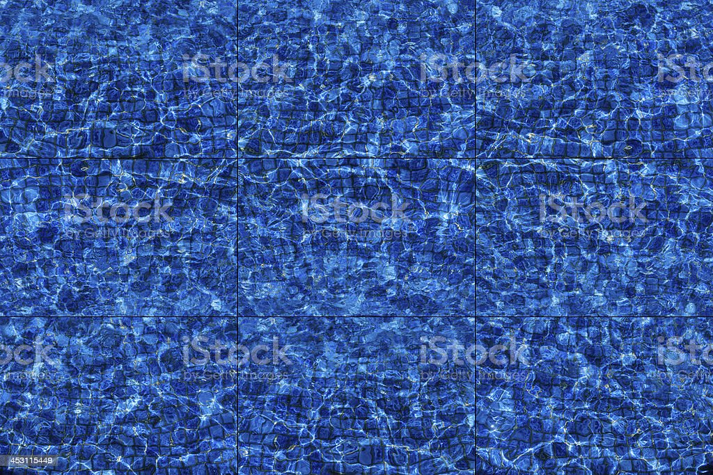 Deep blue water tile background stock photo