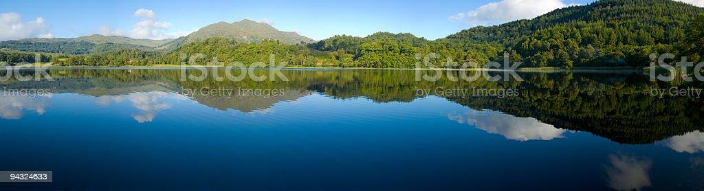 Deep blue, wild green royalty-free stock photo