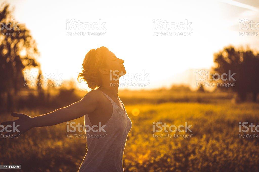 Deep breath stock photo