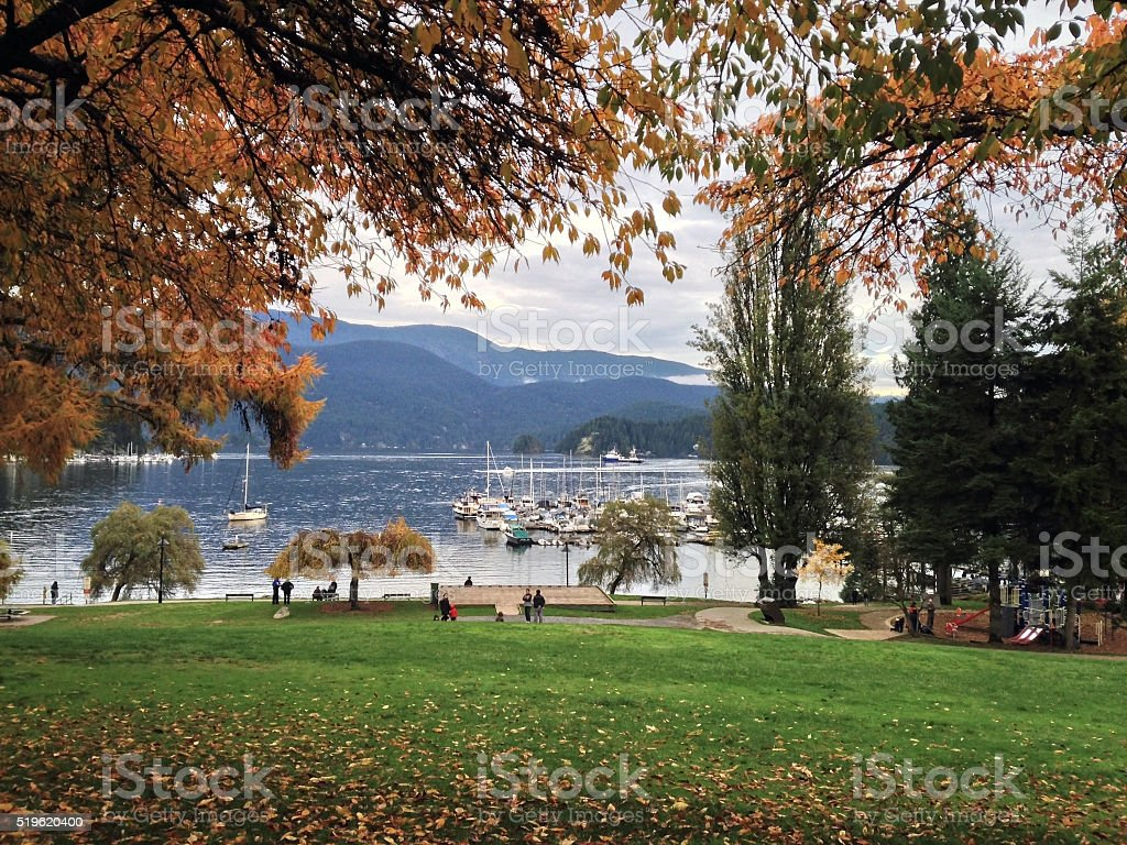 Deep Cove Noth Vancouver stock photo