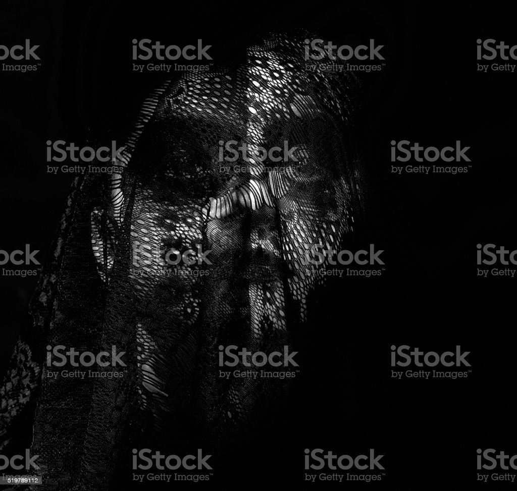 deep dark feelings stock photo