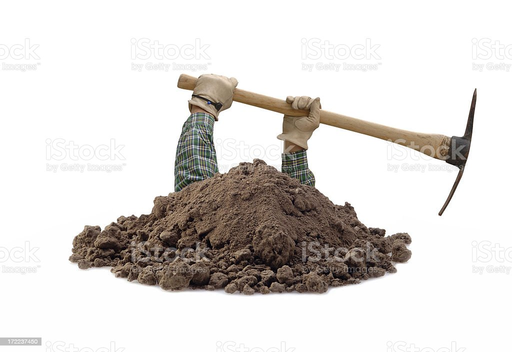 Deep Digger royalty-free stock photo