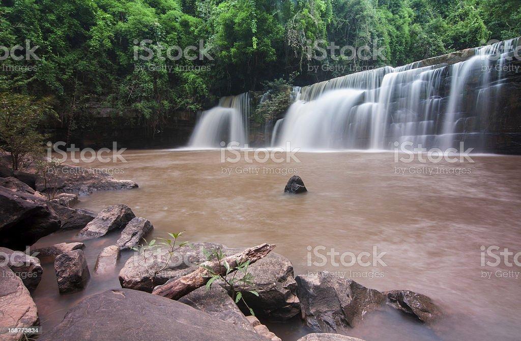 Deep forest Waterfall in phetchabun royalty-free stock photo