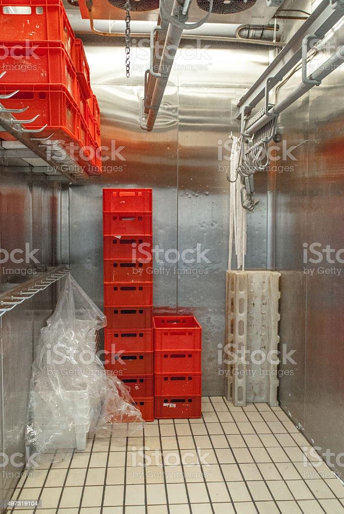 deep freezer, meat storage stock photo