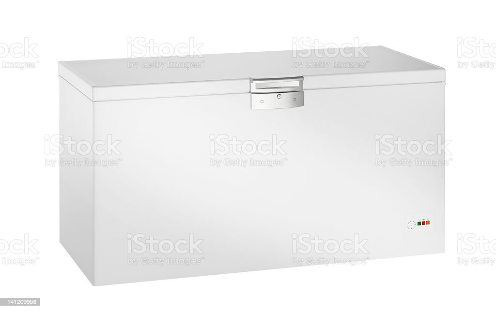 Deep Freezer (isolated with clipping path over white background) royalty-free stock photo