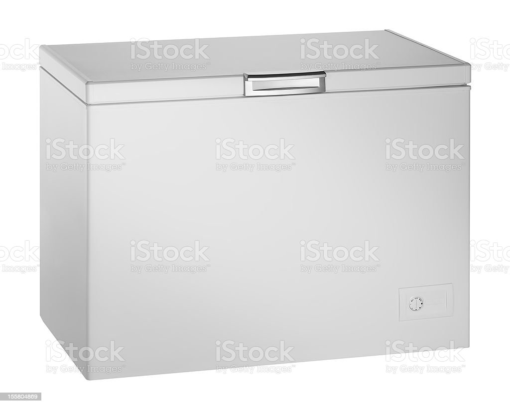Deep Freezer (isolated with clipping path over white background) stock photo