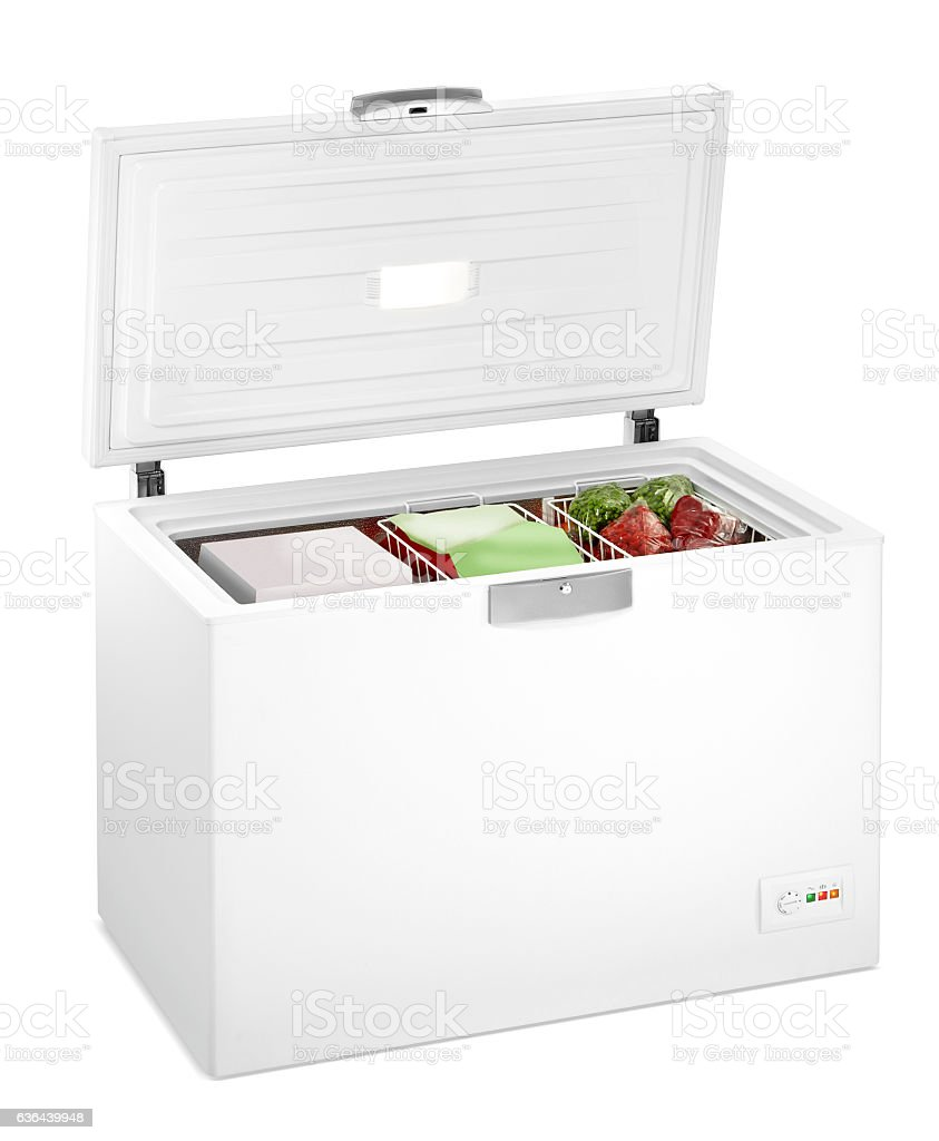 Deep freezer(clipping path) stock photo