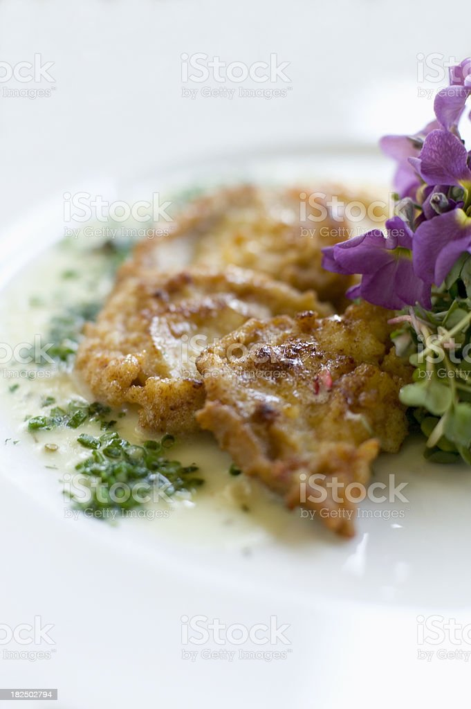 Deep fried abalone slices royalty-free stock photo