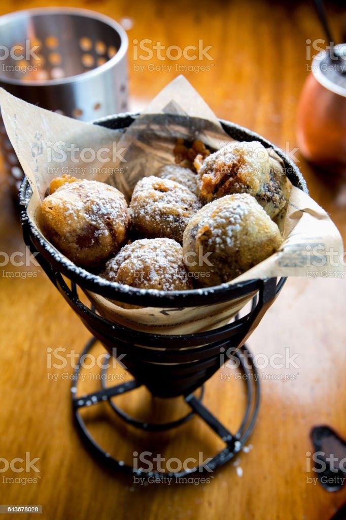 Deep Fried Brownies stock photo