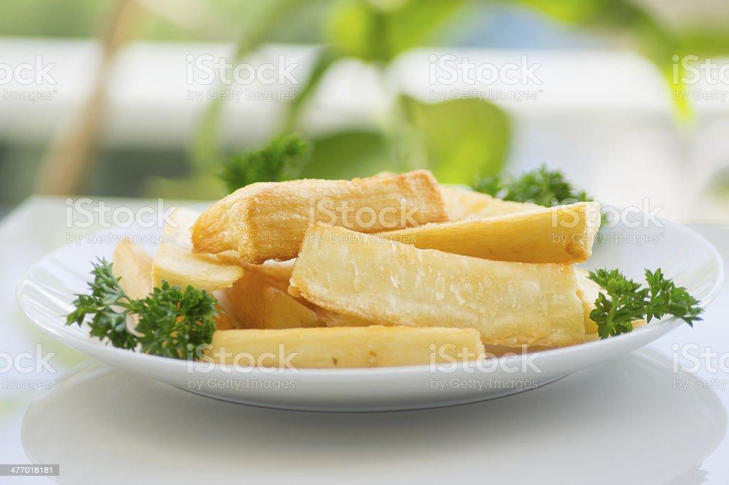 Deep Fried Cassava stock photo