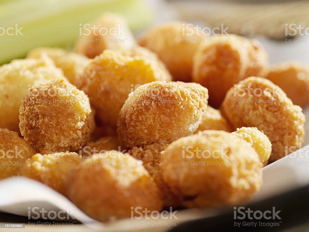 Deep Fried Cheese Balls stock photo