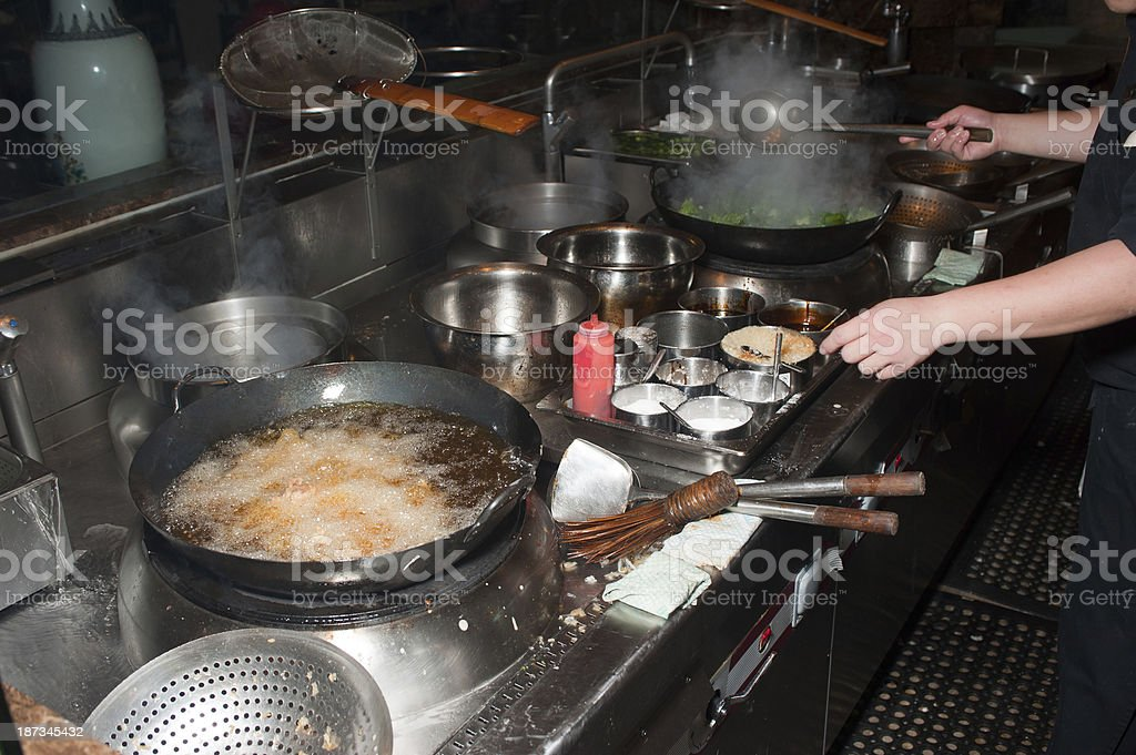 Deep Fried Chicken Wings - Preparation Part 5 of 7 royalty-free stock photo