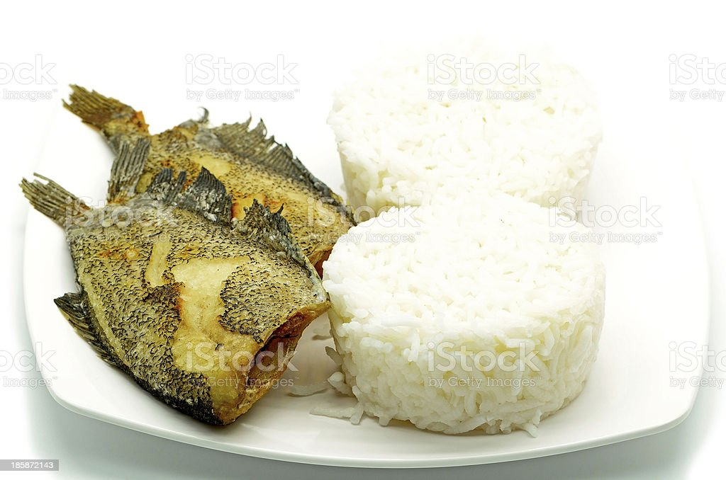 deep fried fish royalty-free stock photo