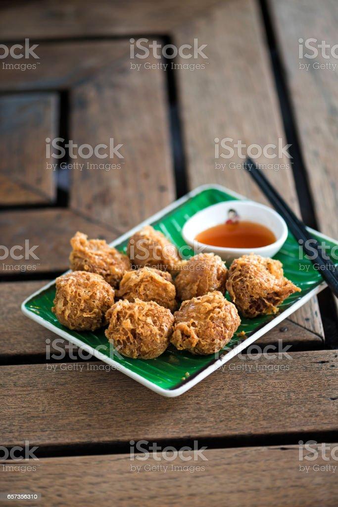 Deep Fried Meat Balls stock photo