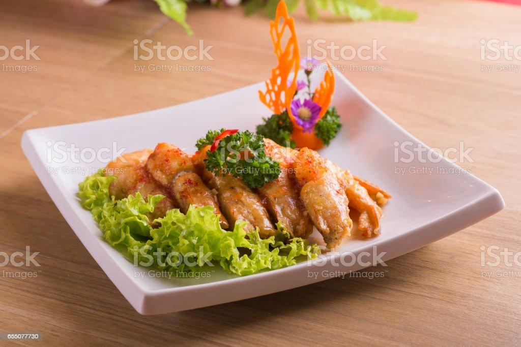 Deep Fried Prawn stock photo