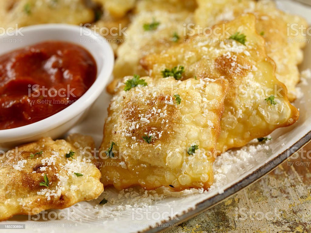Deep Fried Ravioli royalty-free stock photo