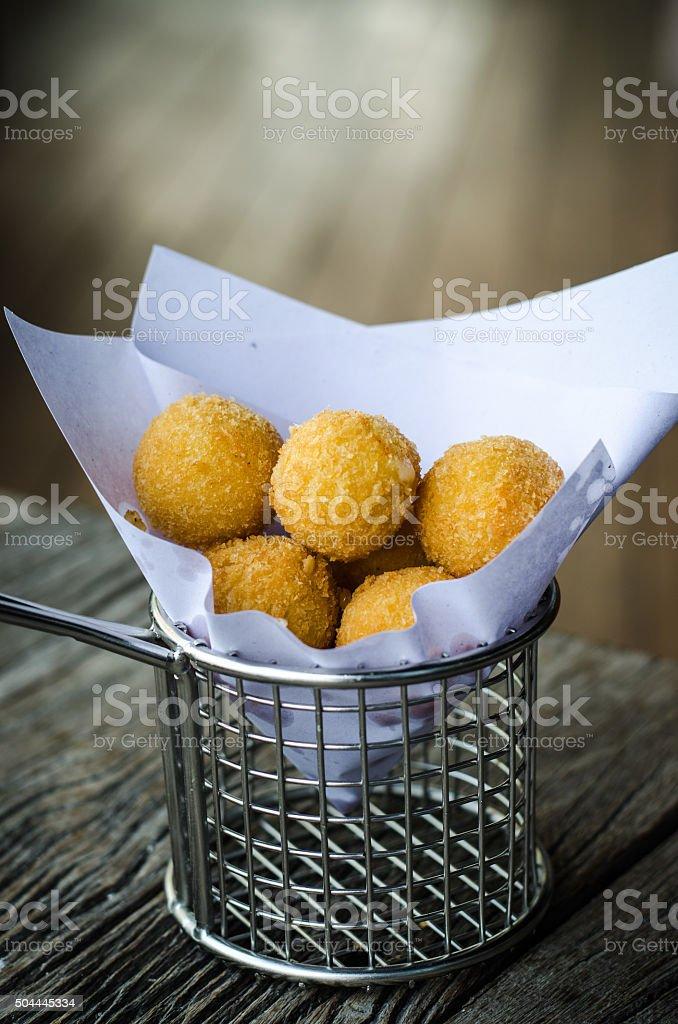 Deep Fried Rice Balls stock photo
