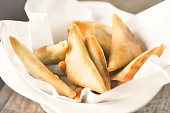 Deep fried Samosa with meat and vegetable stuffed