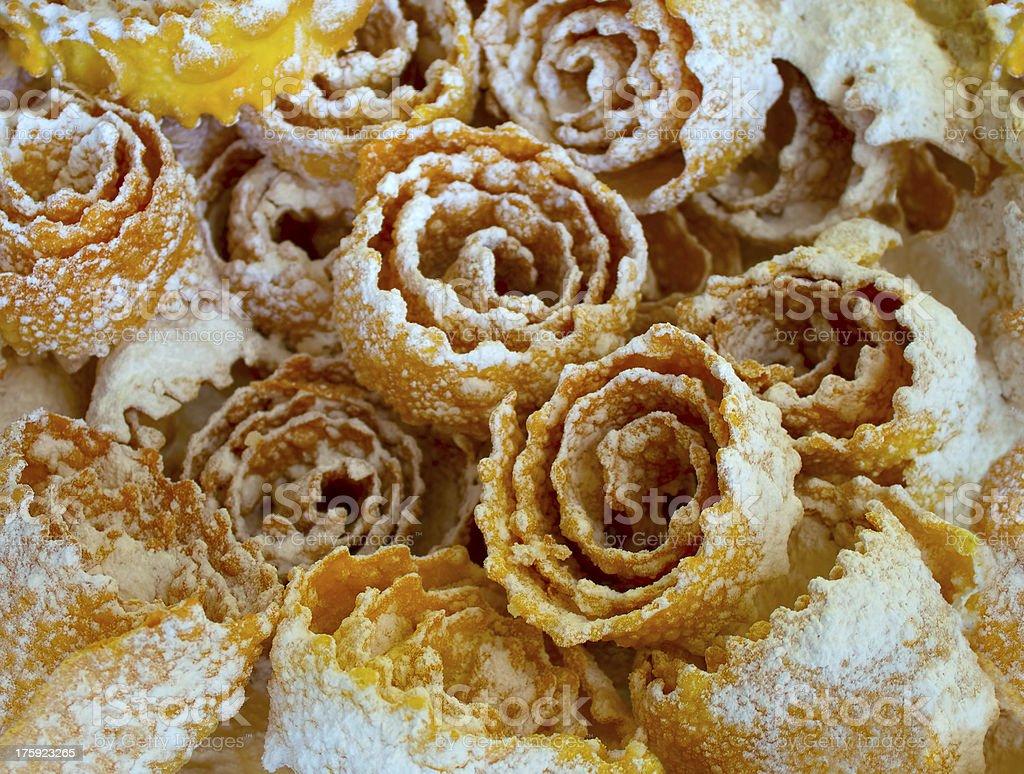 Deep fried Ukrainian pastry treat royalty-free stock photo