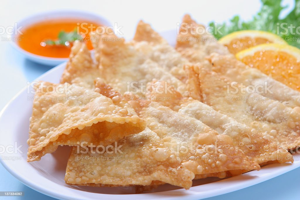 Deep Fried Wonton royalty-free stock photo